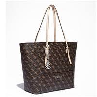 蓋爾斯(GUESS) 標志印花中號簡約女款手提包