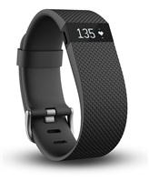 Fitbit Charge HR 智能手环(黑色)大号(16-19.3cm) 心率实时监测 自动睡眠记录 来电显示 运动蓝牙手表计步器