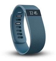 Fitbit Charge 智能手环(蓝灰色)小号(14-16.5cm) 自动睡眠记录 来电显示 运动蓝牙手表计步器
