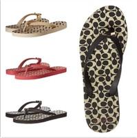 美国代购正品COACH Amel 舒适LOGO夹脚拖鞋 C标 35-42码 有大码