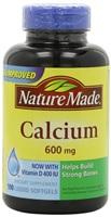 Nature Made液体钙+维D软胶囊600mg*100粒 美国原装正品