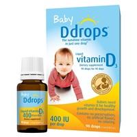 美国直邮美国代购Baby Ddrops婴幼儿童宝宝维生素D3滴剂补钙VD D drops
