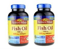 美国Nature Made Fish Oil深海鱼油软胶囊220粒 原装进口保健品 2瓶