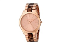 【MICHAEL KORS】Slim Runway Three Hand Rose Gold MK4301