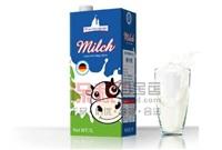 德国莱茵堡低脂纯牛奶1L*12盒