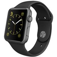 【圣誕免息】Apple Watch Sport 智能手表(42毫米深空灰色鋁金屬表殼搭配黑色運動型表帶 MJ3T2CH/A)