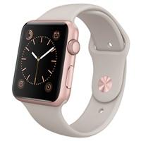 【圣誕免息】Apple Watch Sport 智能手表(42毫米玫瑰金色鋁金屬表殼搭配巖石色運動型表帶 MLC62CH/A )