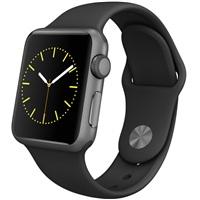 【圣誕免息】Apple Watch Sport 智能手表(38毫米深空灰色鋁金屬表殼搭配黑色運動型表帶 MJ2X2CH/A)